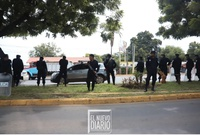 Policías mantienen retenes en algunas zonas de Managua, previo a convocatoria de marcha