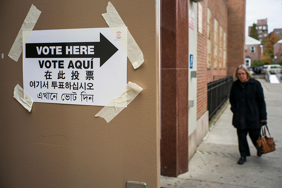Un recinto de votaciones en Nueva York. AFP/END