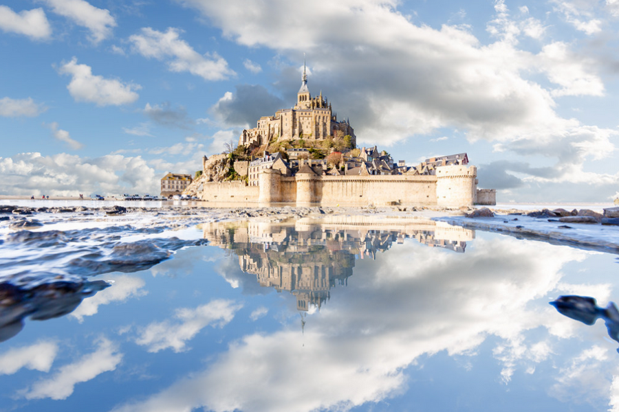 """""""Mont Saint-Michel puddle mirrored"""" by Loïc Lagarde"""