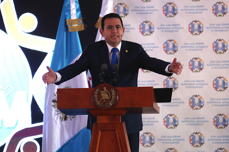 Jimmy Morales, presidente de Guatemala. Archivo/END