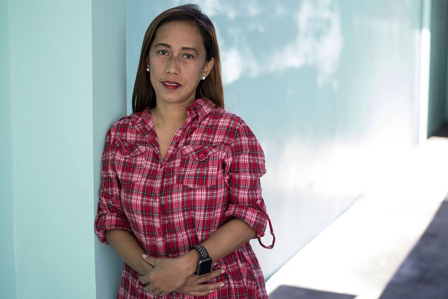 Melody Alan, secretaria general de los defensores del divorcio de Filipinas. Foto: AFP/END