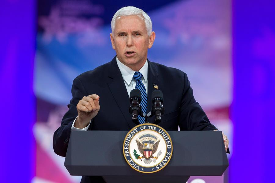 Mike Pence, vicepresidente de Estados Unidos. EFE/END