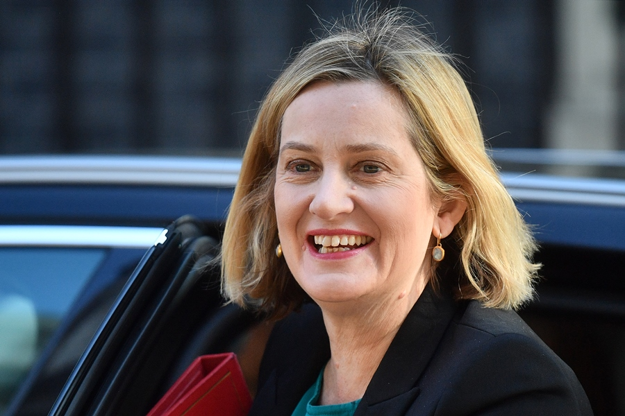 Amber Rudd, candidata a reemplazar a Theresa May. AFP/END
