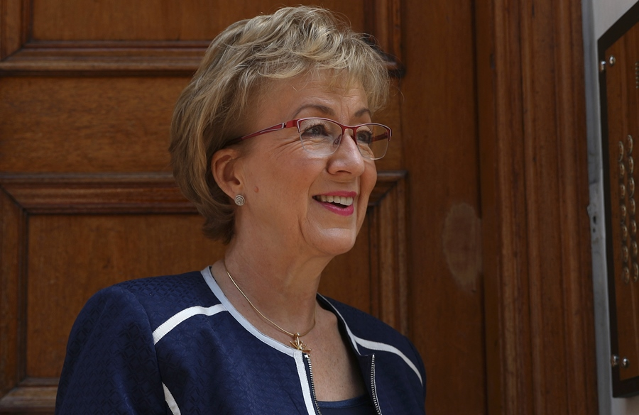 Andrea Leadsom, candidata a reemplazar a Theresa May. AFP/END