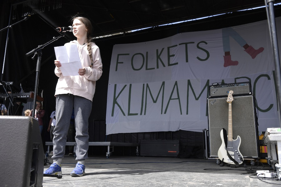 Greta Thunberg, activista ecologista. AFP/END