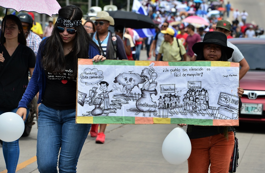 Protestas en Honduras. AFP/END.