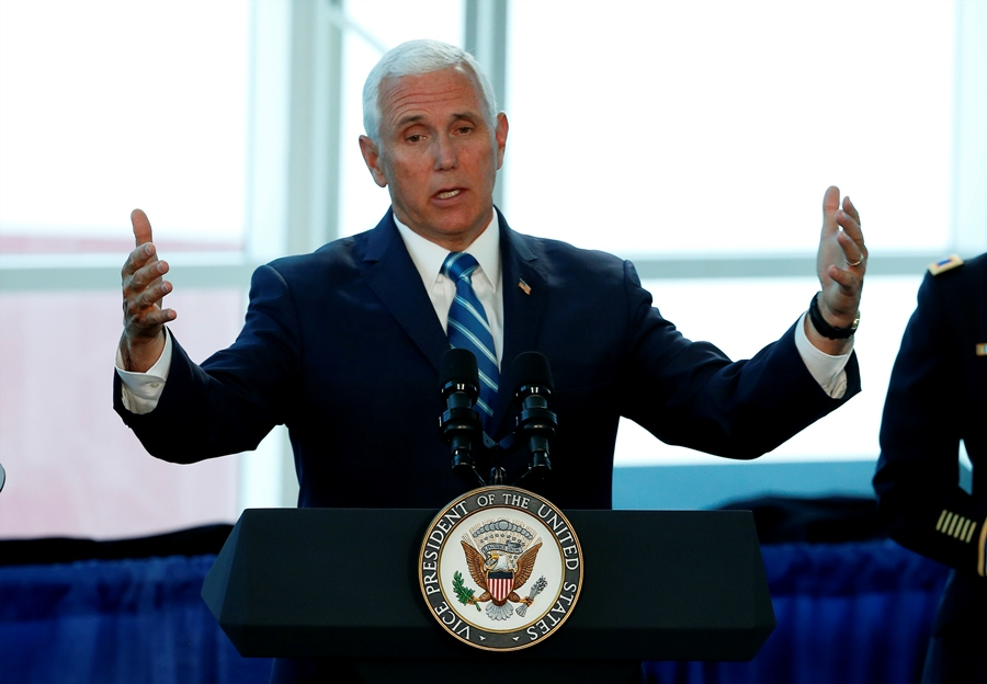 El vicepresidente de Estados Unidos, Mike Pence. AFP/END.