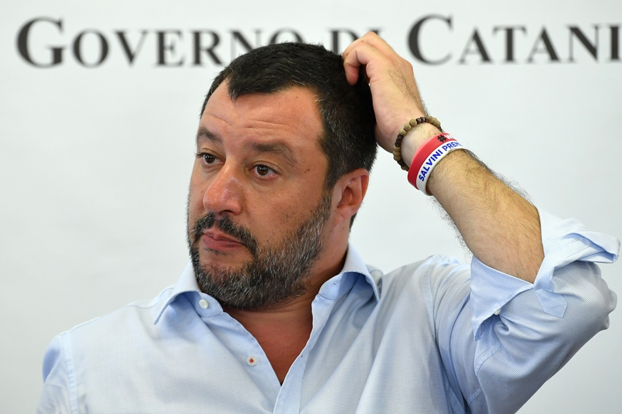 Matteo Salvini, ministro italiano. AFP/END.