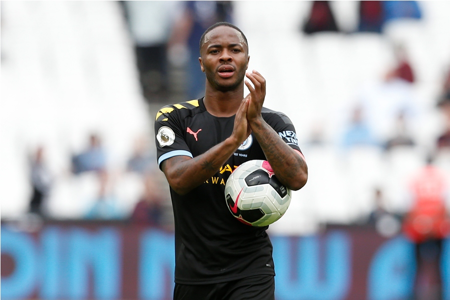 Raheem Sterling anotó tres goles. Foto: AFP/END