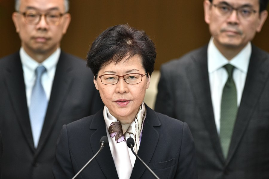Carrie Lam. AFP/END.