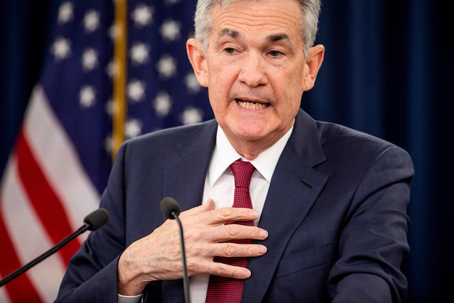 Jerome Powell, presidente de la Reserva Federal. EFE/END