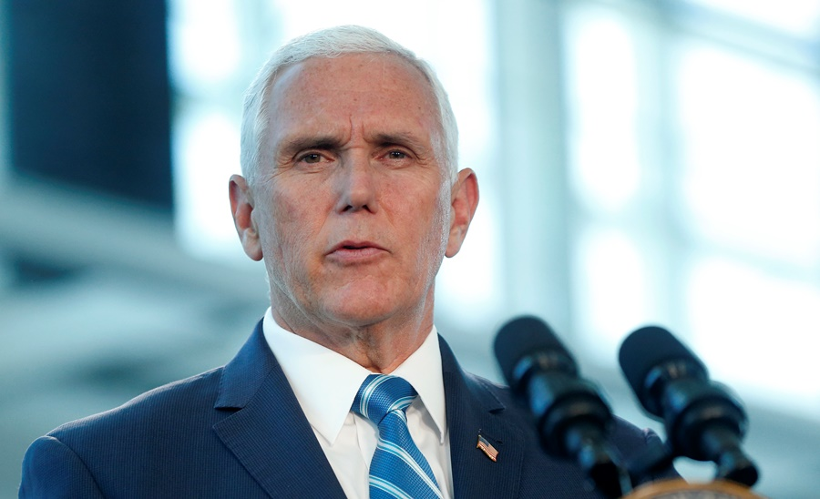 Mike Pence, vicepresidente de Estados Unidos. AFP/END