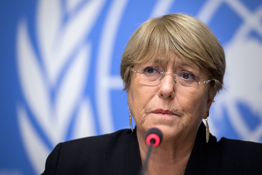 Michelle Bachelet.. AFP/END
