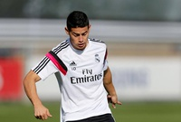James Rodríguez regresa a los entrenamientos del Real Madrid