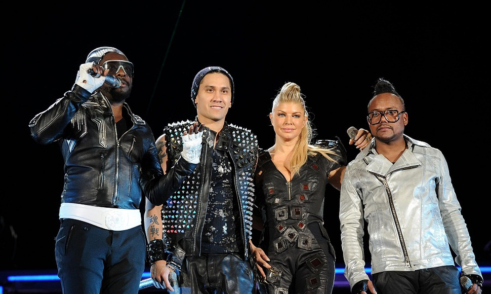 Los integrantes del grupo Black Eyes Peas.