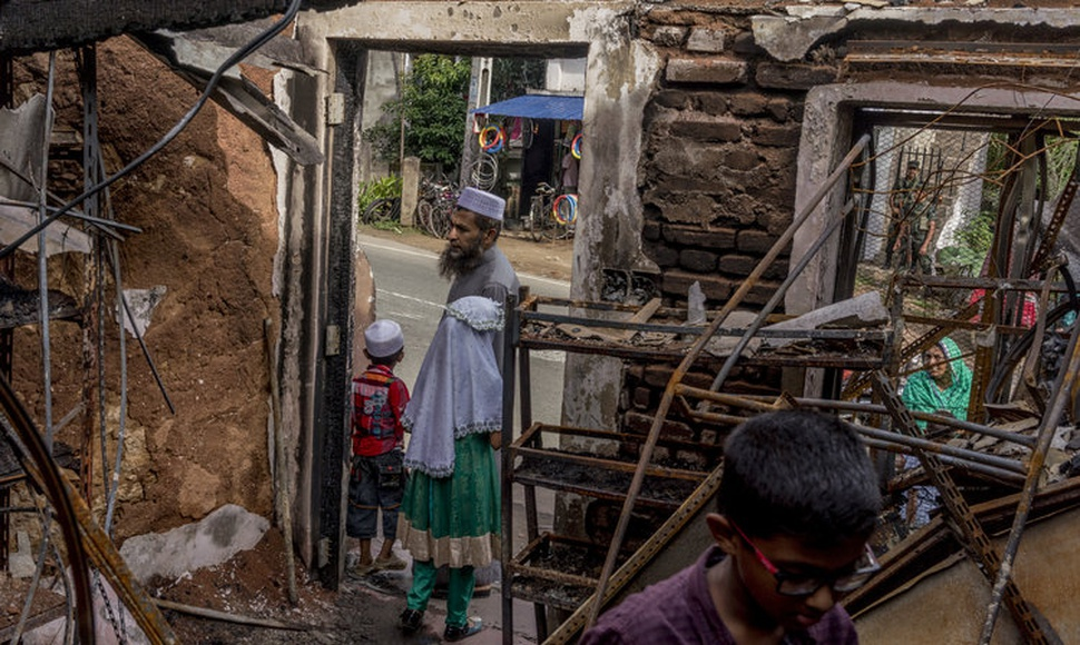 Facebook has been accused of accelerating violence in Sri Lanka. The ruins of a home set upon by a Buddhist mob.  (Adam Dean for The New York Times)