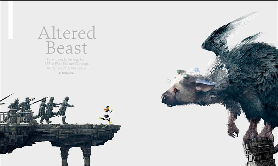 Vista de la portada de The Last Guardian.