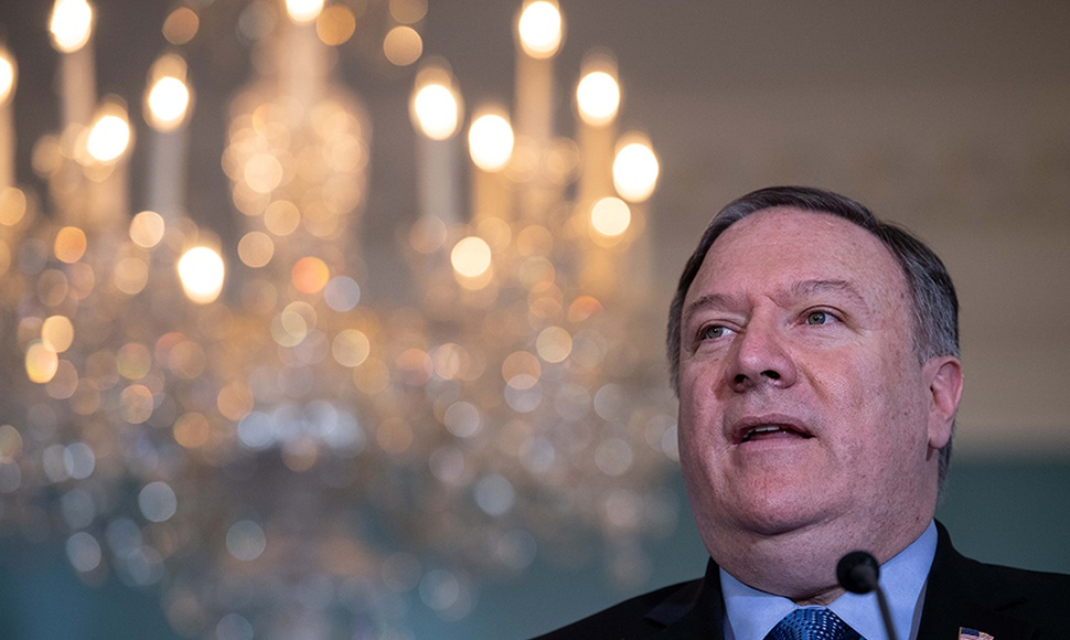 El secretario de Estado, Mike Pompeo .