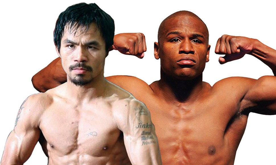 Manny Pacquiao y Mayweather.