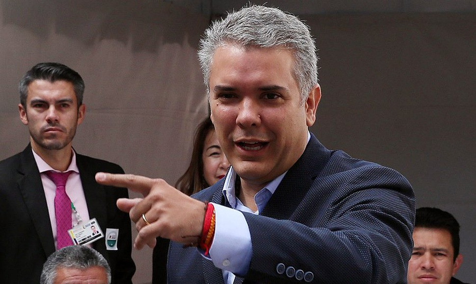 l candidato presidencial colombiano Iván Duque