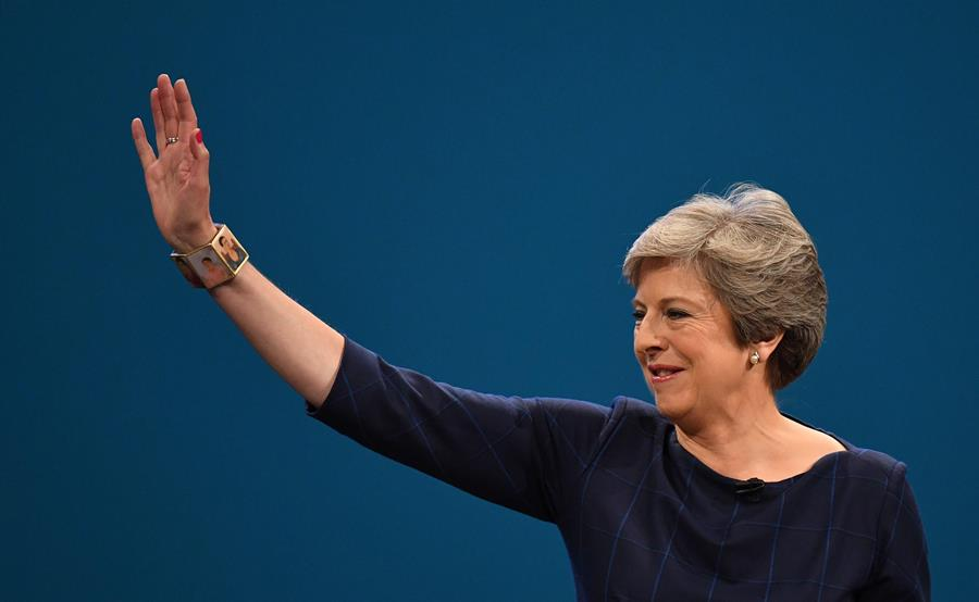 Theresa May, primera ministra británica. AFP/END