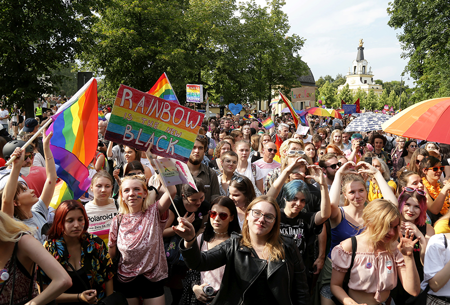 Marcha del orgullo gay en Polonia. AFP/END