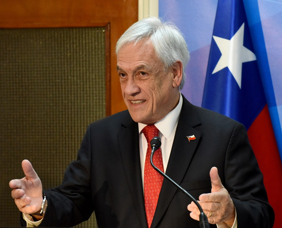 Sebastián Piñera, presidente de Chile. AFP/END.