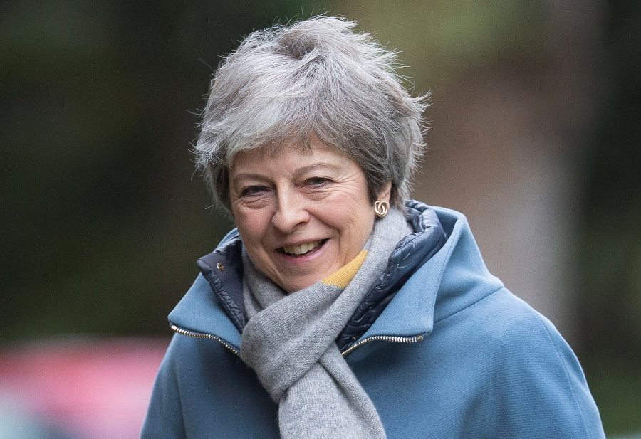 Theresa May, ex primera ministra británica. AFP/END